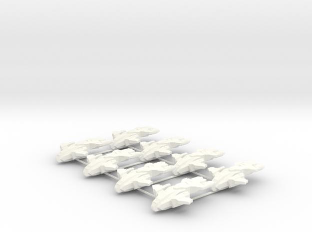 UNSC Pelican - 8 Sprue - Halo Risk in White Processed Versatile Plastic