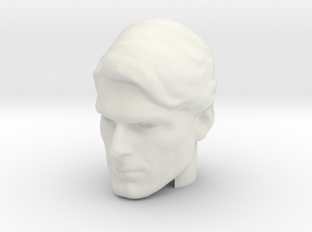 Superman head | Christopher Reeve in White Natural Versatile Plastic