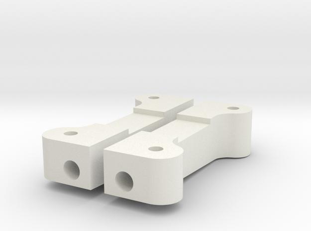 91 STEALTH REAR ARM MOUNT, PAIR in White Premium Versatile Plastic