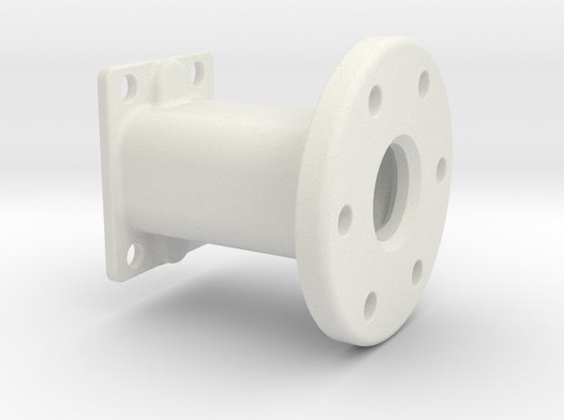 Spare Tire Mount in White Natural Versatile Plastic