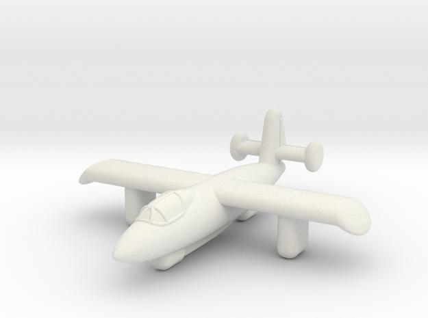 4302 Rocket Interceptor in White Natural Versatile Plastic