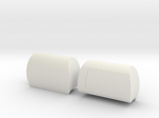 VS4-10 Modern HeadRest in White Natural Versatile Plastic