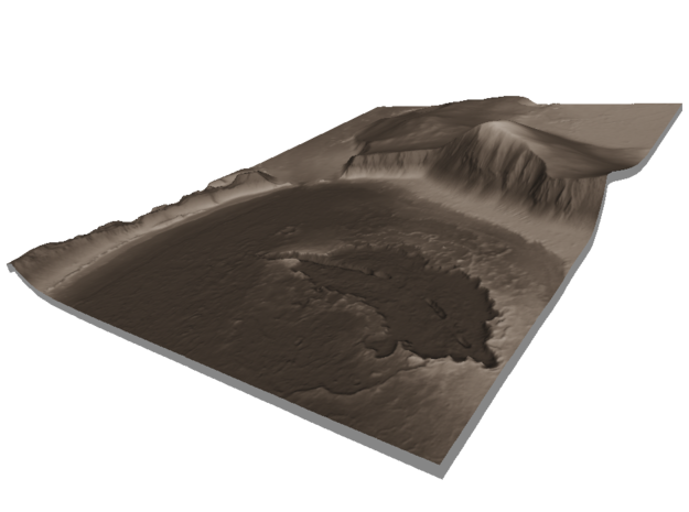 Mars Map: Lava Vent - Sepia in Matte Full Color Sandstone