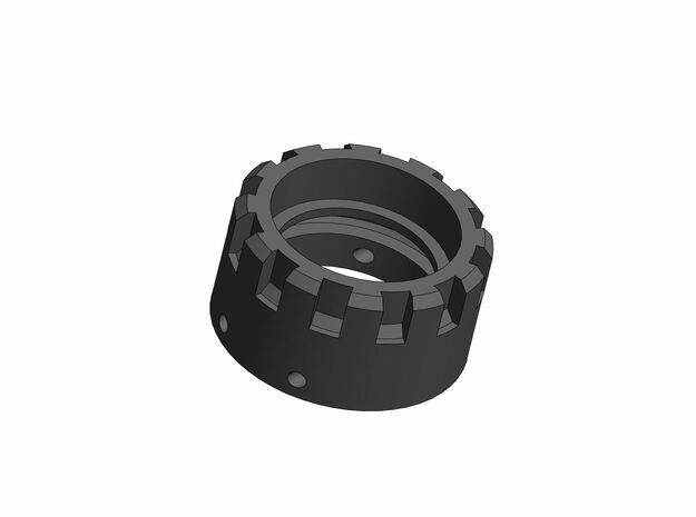 Neopixel pogo-pin connector holder (1in - Hilt) in White Natural Versatile Plastic