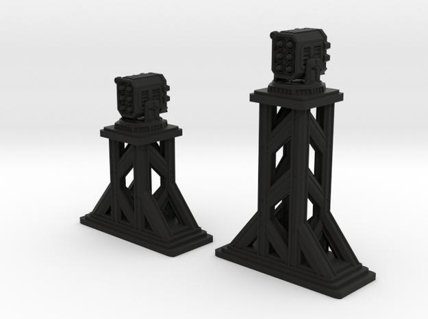 Turrets - MISSILE PODS in Black Natural Versatile Plastic