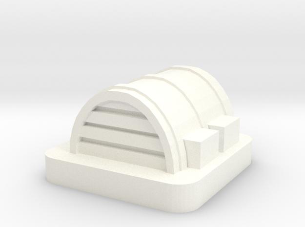 Mini Space Program, Base Hangar 2 in White Processed Versatile Plastic