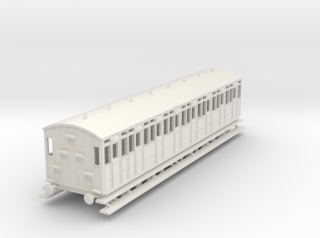 o-100-metropolitan-8w-short-brake-coach in White Natural Versatile Plastic