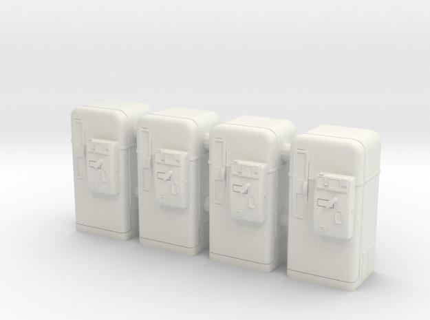 Vintage vending machine 01. O Scale (1:48) in White Natural Versatile Plastic
