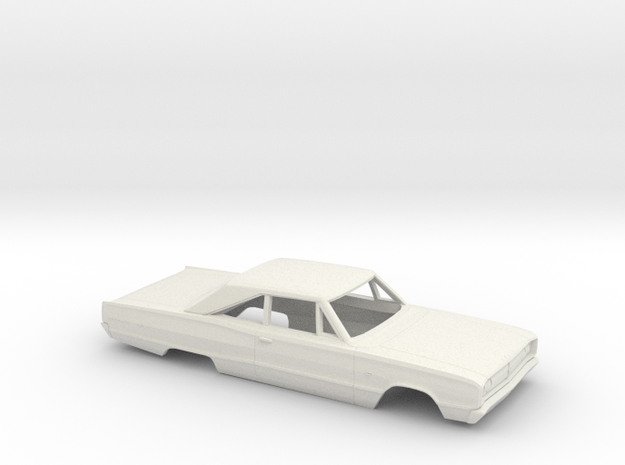 1/25 1967 Dodge Coronet Coupe Body in White Natural Versatile Plastic