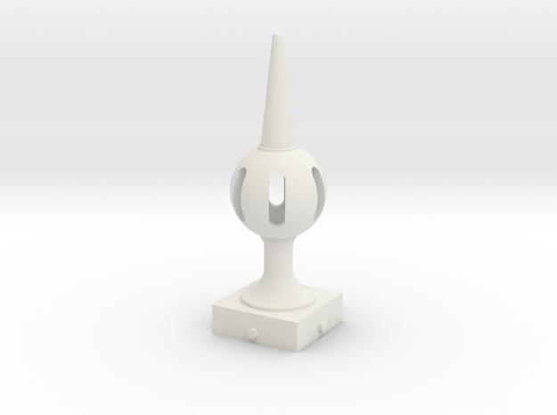 Signal Finial (Pierced Ball) 1:22.5 scale in White Natural Versatile Plastic