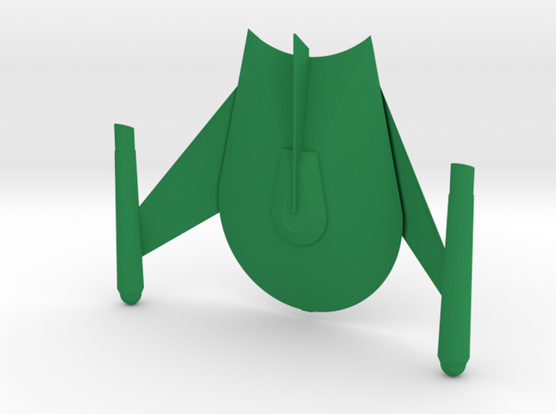 Romulan Star Empire - Bird of Prey (TOS) in Green Processed Versatile Plastic