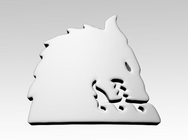 Sea Wolf Right Shoulder Icons x50 in Smooth Fine Detail Plastic