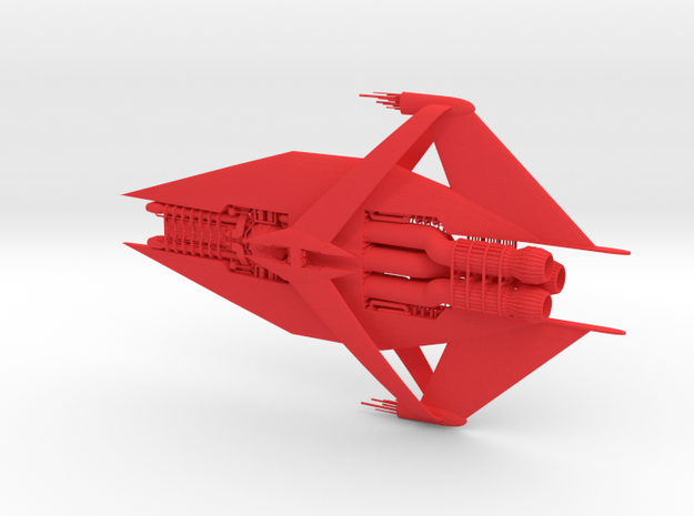 Narn - GQuan Cruiser (w/o base) in Red Processed Versatile Plastic