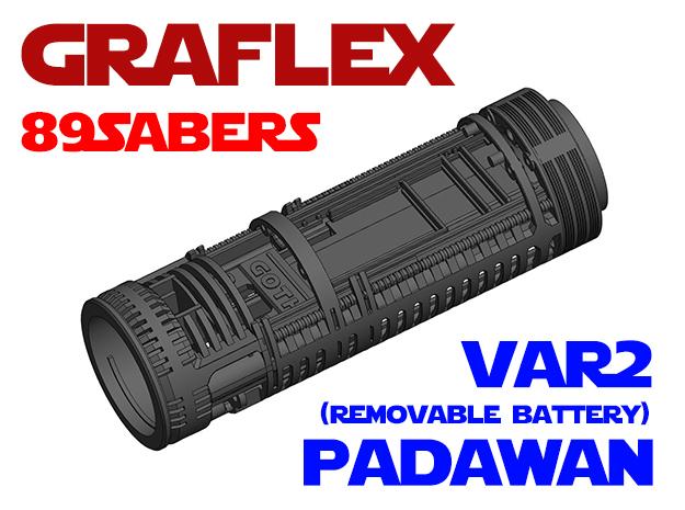 Graflex 89Sabers - Padawan Var2 Lightsaber Chassis in White Natural Versatile Plastic