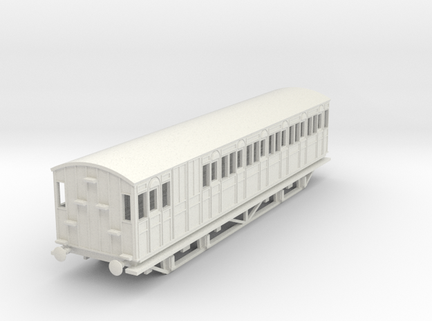 o-76-metropolitan-8w-long-brake-coach-mod in White Natural Versatile Plastic