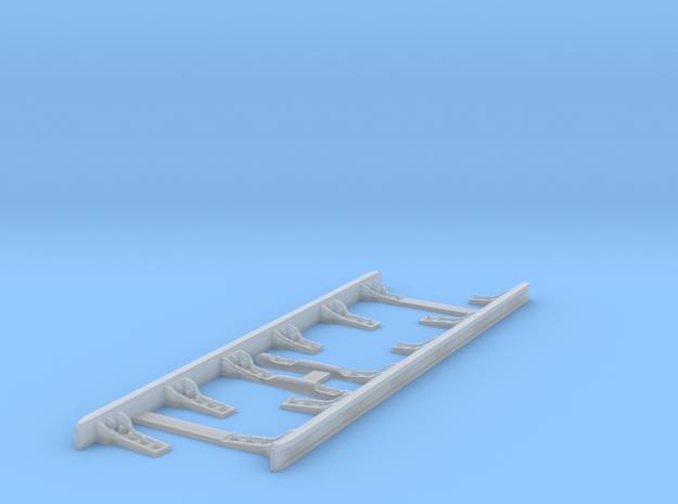 Paire de contre rails équipés 6 supports in Smooth Fine Detail Plastic