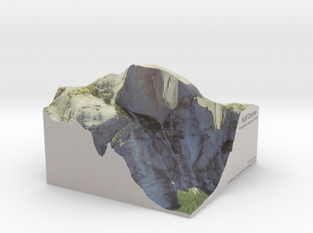 Yosemite - Half Dome Map: 8 inch in Matte Full Color Sandstone