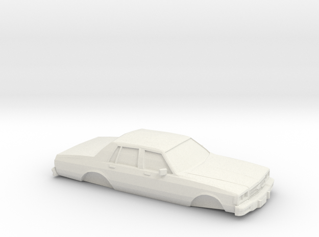 1/24 1978 Chevrolet Impala Shell in White Natural Versatile Plastic