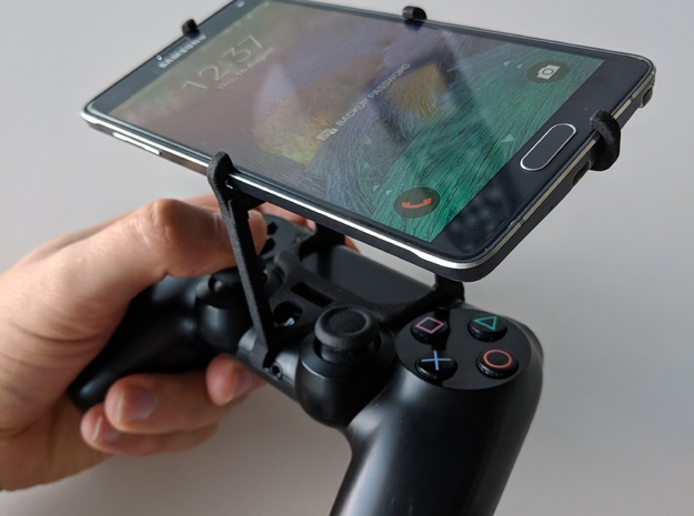 PS4 controller & Samsung Galaxy J7 Max - Over the  in Black Natural Versatile Plastic