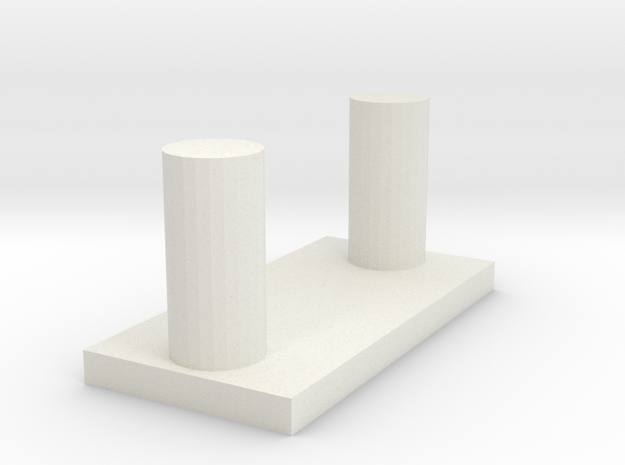 Console slider backside in White Natural Versatile Plastic