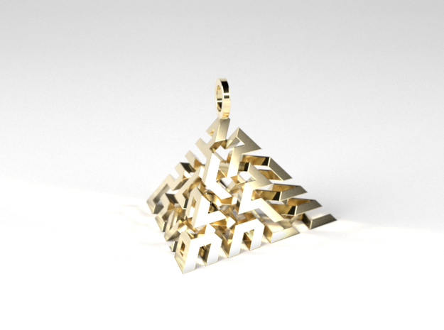 Labyrinth ÷ 3 in Polished Brass