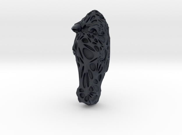 Horse Face + Half-Voronoi Mask (002) in Black PA12