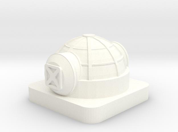 Mini Space Program, Base Habitat, 2 Hatches in White Processed Versatile Plastic