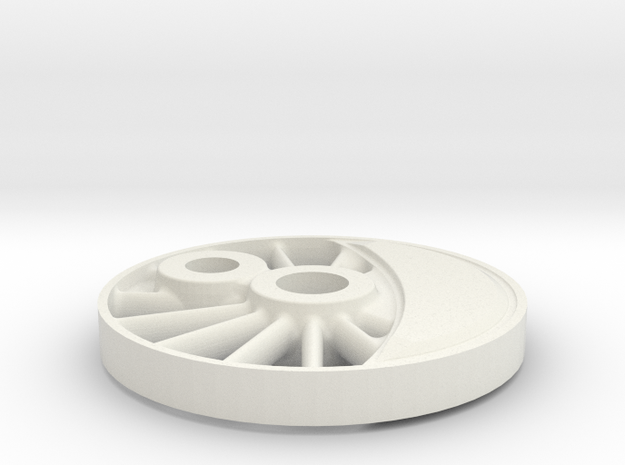 wheel H-maskine 1:45  in White Natural Versatile Plastic