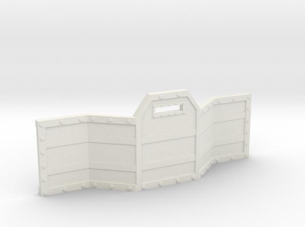 Gun Line Barricade in White Natural Versatile Plastic