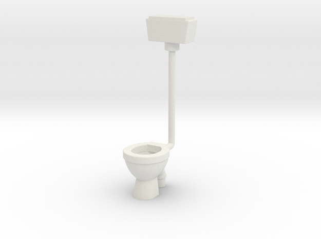 WC with Wall Cistern-- OO Scale