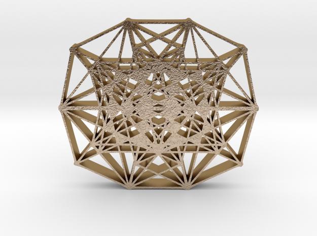 Decagon hangerless pendant in Polished Gold Steel