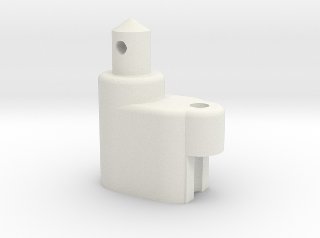 ZC-118 Individual Battery Post & Antenna in White Natural Versatile Plastic