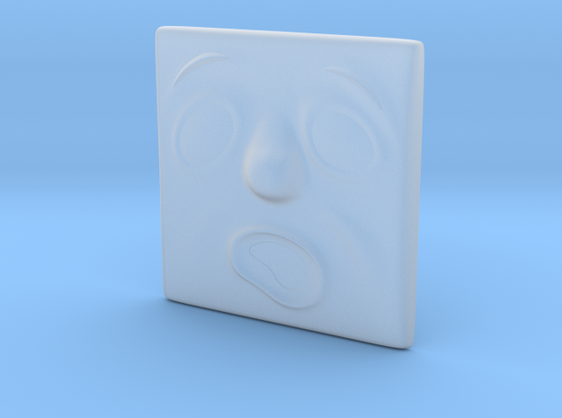 Large Scared Face in Smoothest Fine Detail Plastic