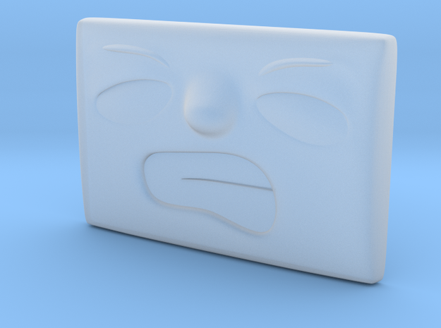 Small Angry Face in Smoothest Fine Detail Plastic