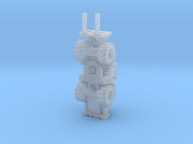Cat950K forklift  in Smooth Fine Detail Plastic: 6mm