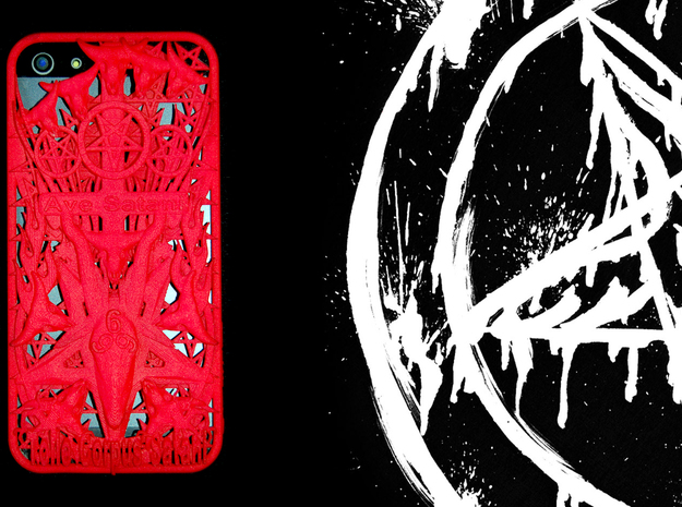 Ave Satani iPhone 5 Cover in Red Strong & Flexible Polished