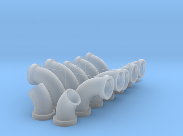 7.9mm Pipe Fitting Assortment in Smooth Fine Detail Plastic