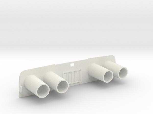 Captain Action IDEAL Exhaust in White Natural Versatile Plastic