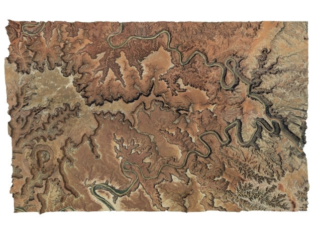 "Canyonlands National Park Map: 9""x14"" in Matte Full Color Sandstone"