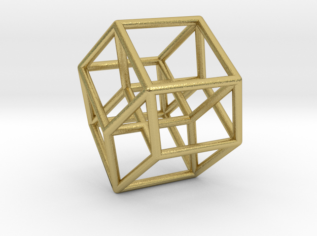 Tesseract with ghost symmetry in Natural Brass