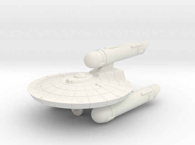 3788 Scale Federation Battle Frigate (FFB) WEM in White Natural Versatile Plastic