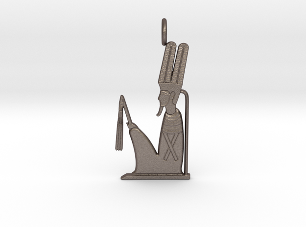 Min amulet in Polished Bronzed-Silver Steel