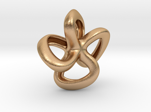 Mona pendant necklace in Natural Bronze