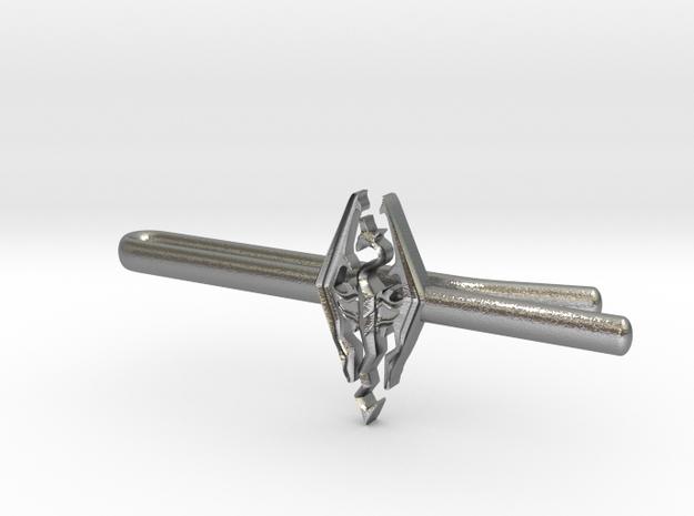 Skyrim tie clip in Natural Silver