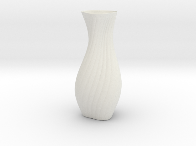 Hips Vase in White Natural Versatile Plastic