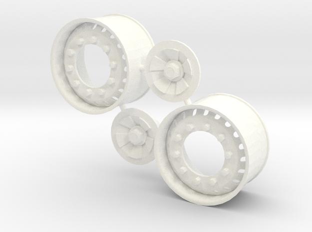 20 Hole Euro Front Rim Super Single in White Processed Versatile Plastic