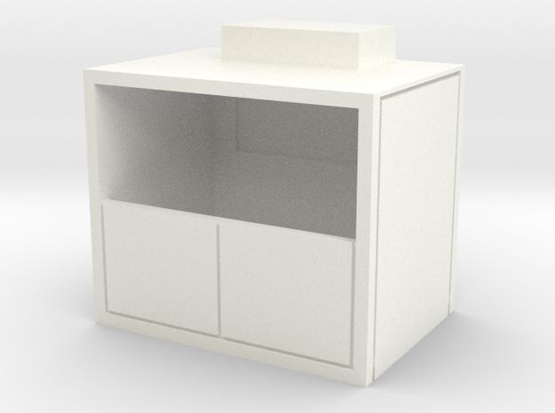 Freight Elevator in White Processed Versatile Plastic
