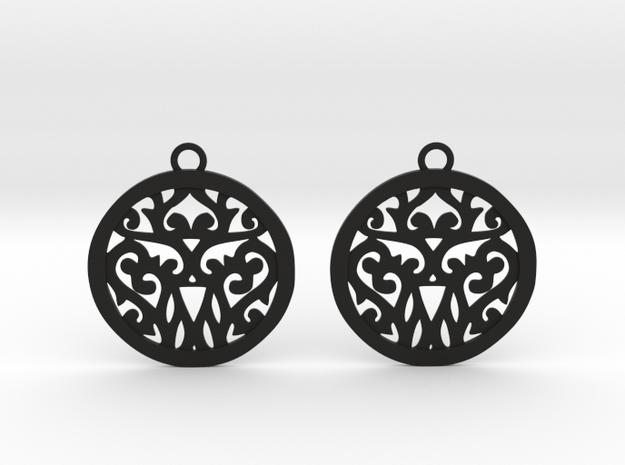 Elaine earrings in Black Natural Versatile Plastic: Small