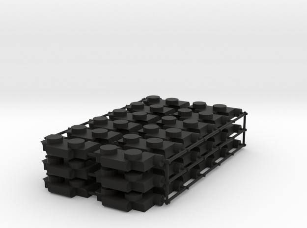 Variable width Garage Hinges in Black Natural Versatile Plastic