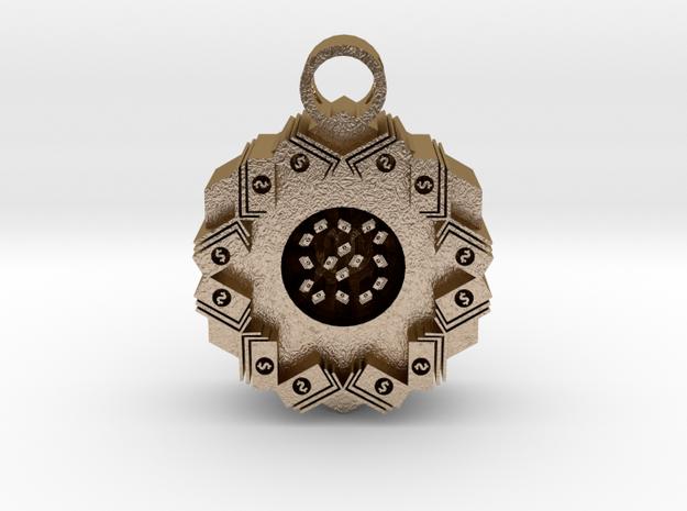 money stacks pendant in Polished Gold Steel